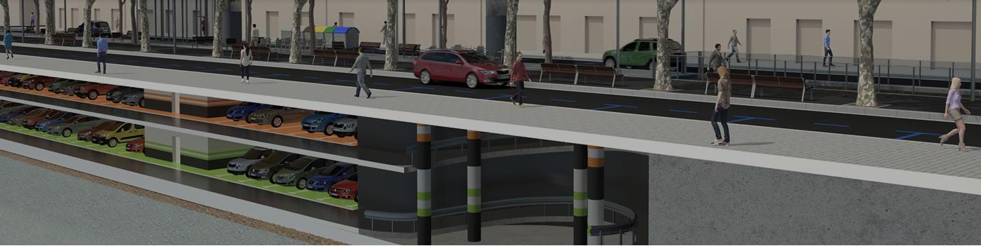 Construcció de 2 aparcaments a l'Av. Verge de Montserrat