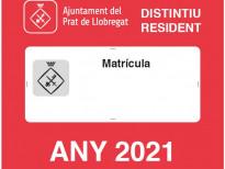 Distintiu de resident 2021