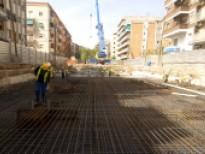 Obres de construcció dels dos aparcaments subterranis