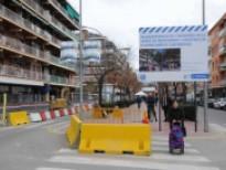 Obras de los dos aparcamientos subterráneos en la Av. de la Verge de Montserrat