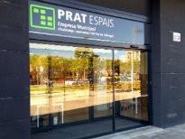 Entrada a les noves oficines de Prat Espais